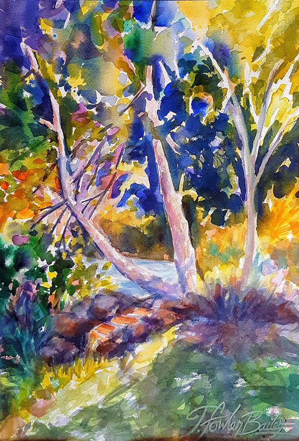 Susan River Painting - Morning Trees On The Susan River by Therese Fowler-Bailey