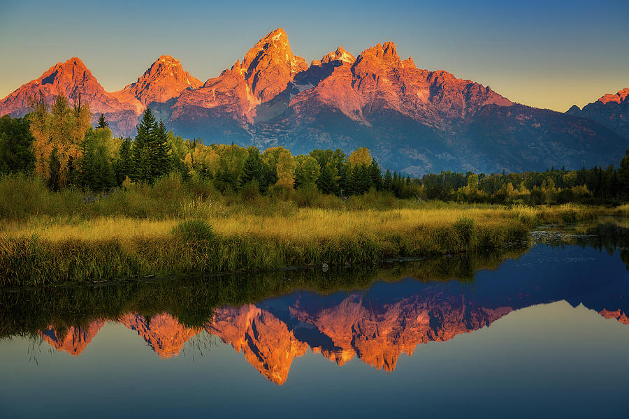 Morning View of Grand Tetons by John Hight