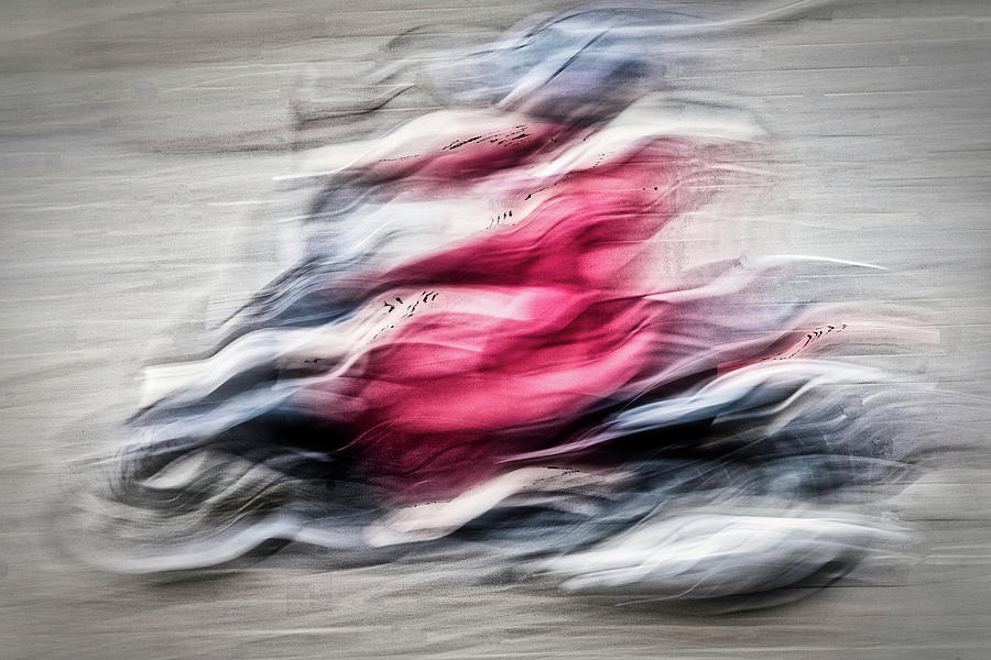 Morocco Motorcycle Rider Abstract by Stuart Litoff