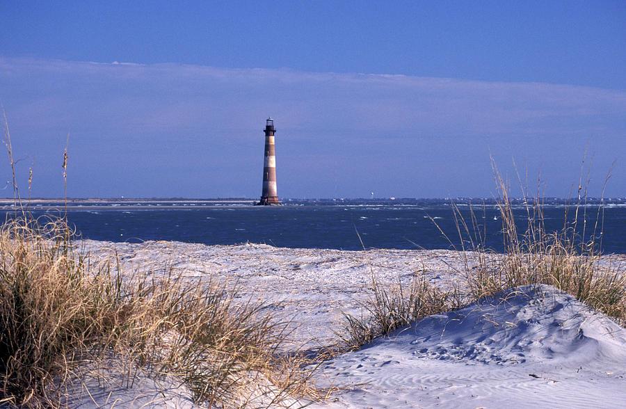Morris Island Lighthouse At Folley Beach Photograph by Photorx