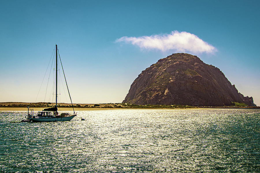 Morro Rock in Morro Bay by Donald Pash