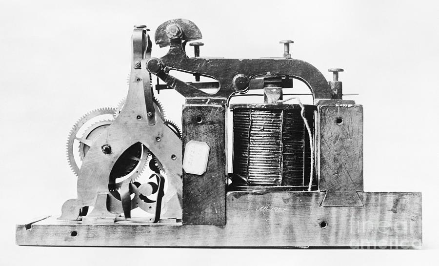 Morse Telegraph Register Receiver Photograph by Bettmann