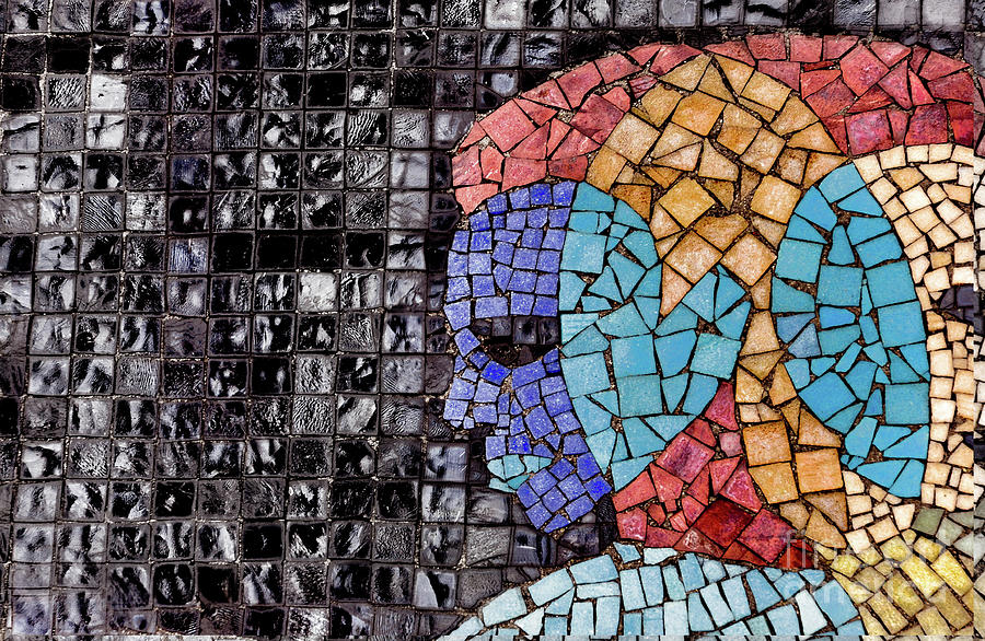 Mosaic Tile ..abstract by Elaine Manley