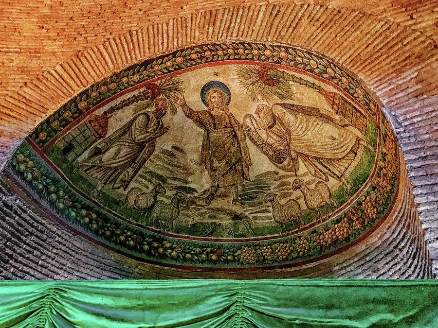 Basilicas Photograph - Mosaics Of Mausoleo by Joseph Yarbrough