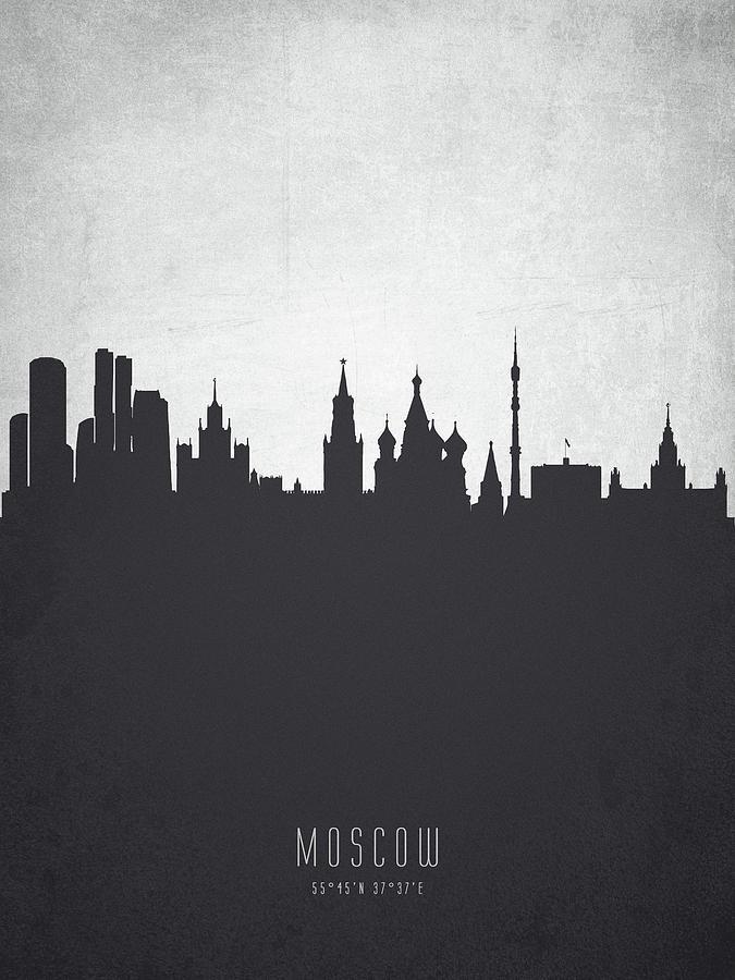 Moscow Digital Art - Moscow City Skyline Rusmw19 by Aged Pixel
