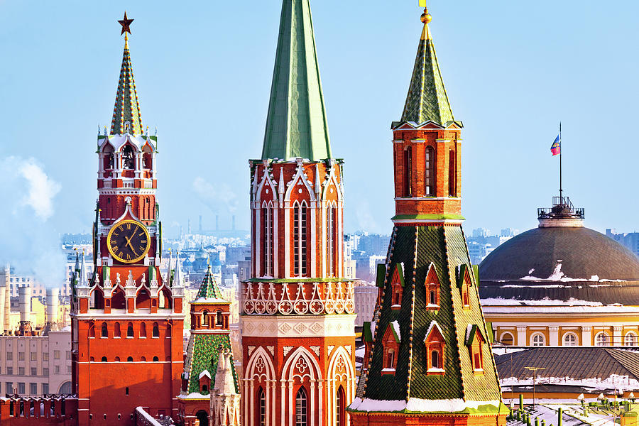 Moscow Kremlin Towers Photograph by Mordolff