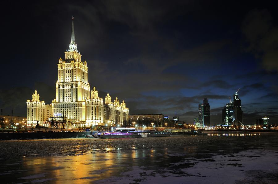Moscow Night View Photograph by Vladimir Zakharov