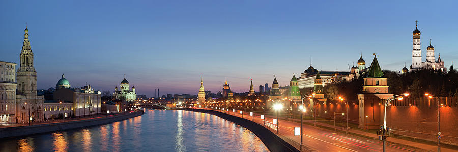 Moscow River At Dusk Photograph by Siegfried Layda