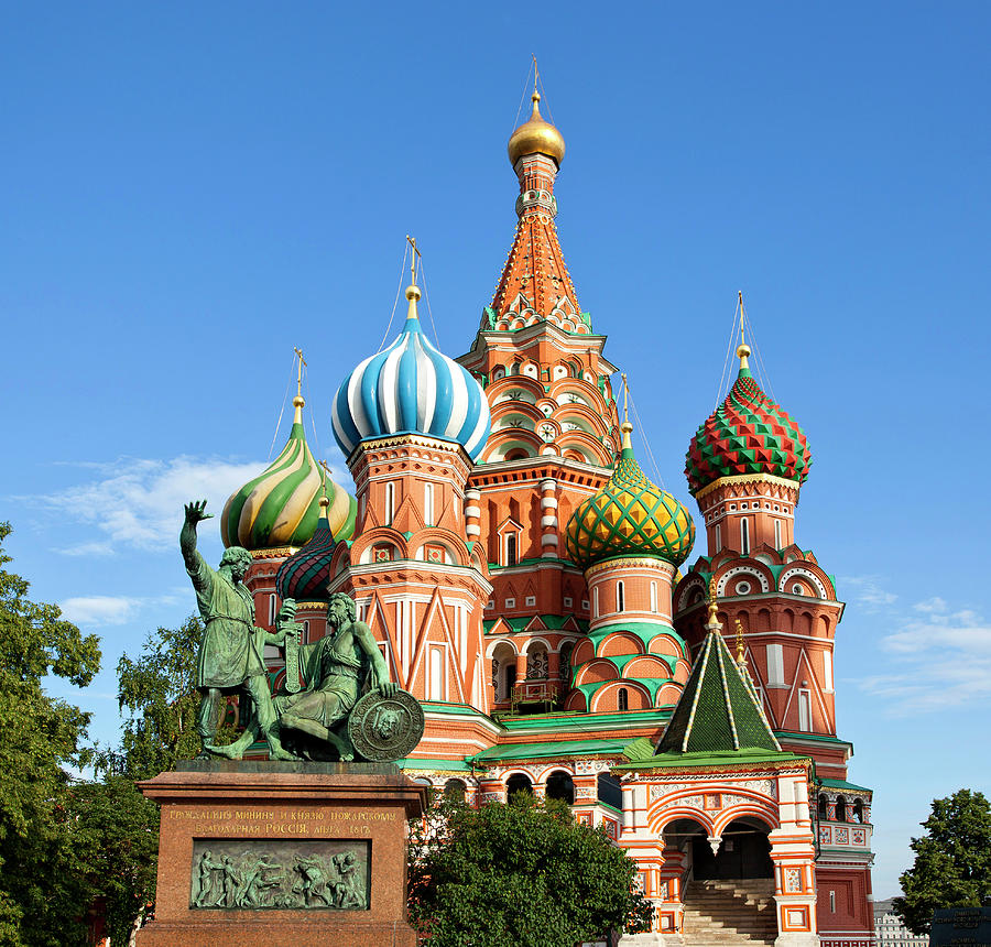 Moscow. St.basil Cathedral, Minin And Photograph by Ferhatmatt