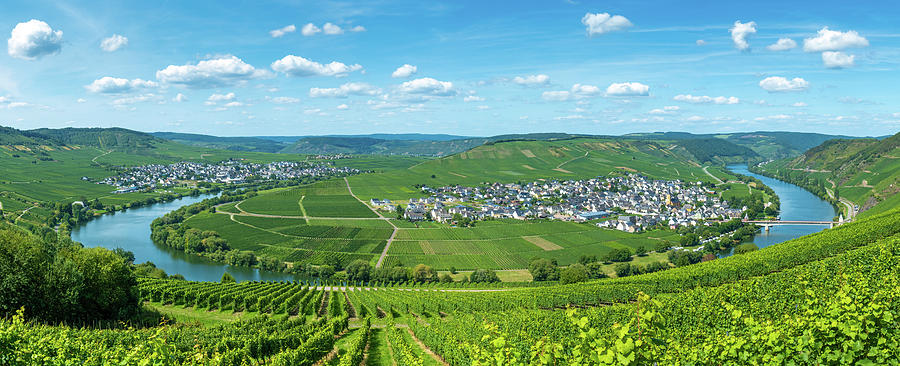 Mosel River Bend Germany Panorama by Matthias Hauser