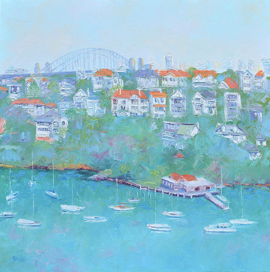 Mosman Bay and Sydney Harbour Bridge by Jan Matson