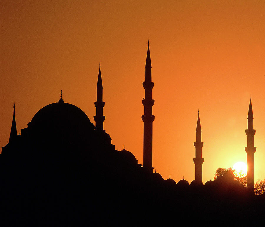 Mosque Hagia Sofia At Sunset, Istanbul Photograph by Hans-peter Merten