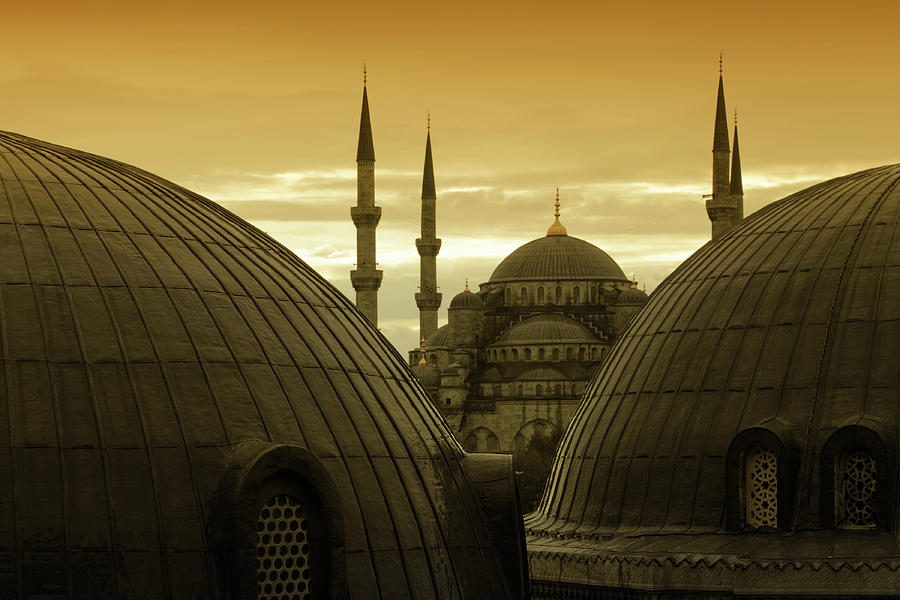 Mosques In Sultanahmet, Istanbul, Turkey Photograph by Tunart