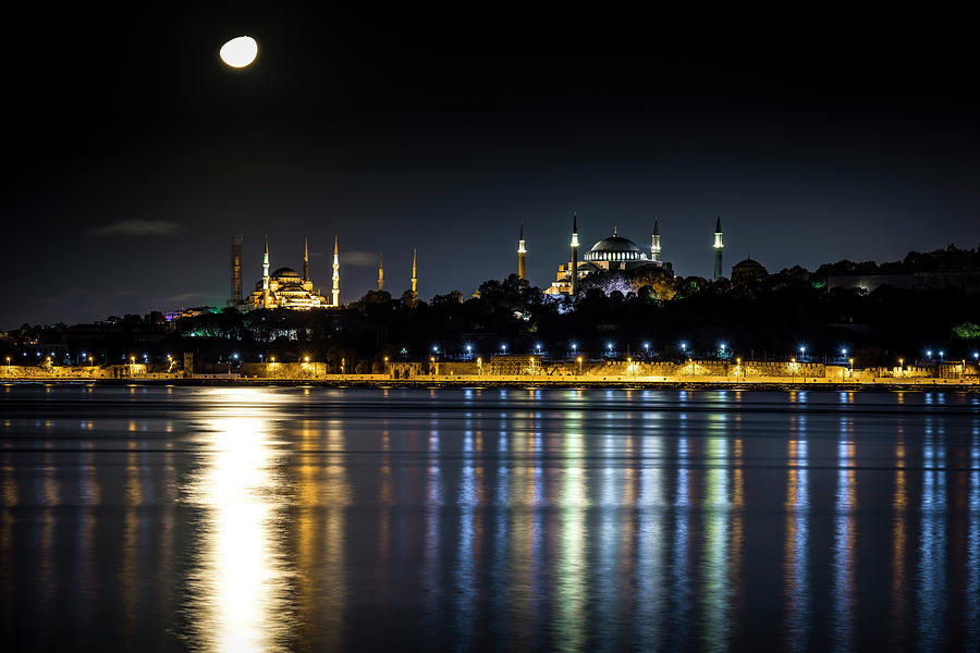 Mosques under the moonlight by David Morefield