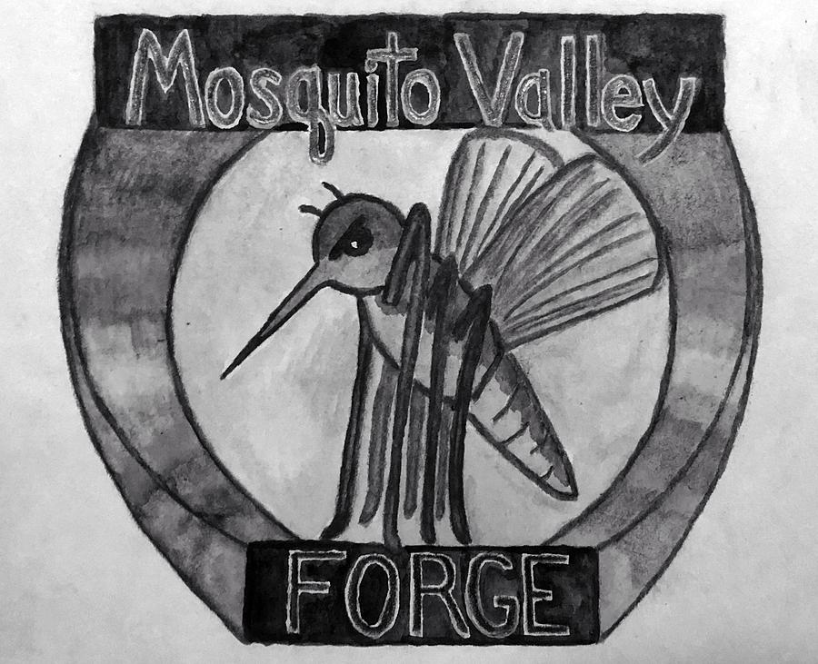 Mosquito Valley Forge Logo Black And White Drawing