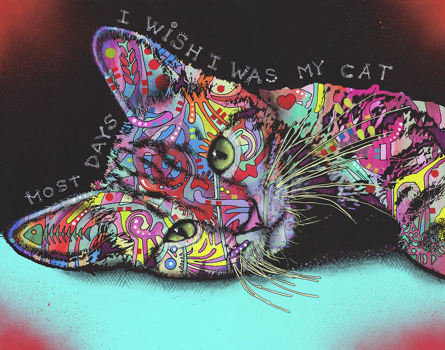 Domestic Cats Mixed Media - Most Days by Dean Russo
