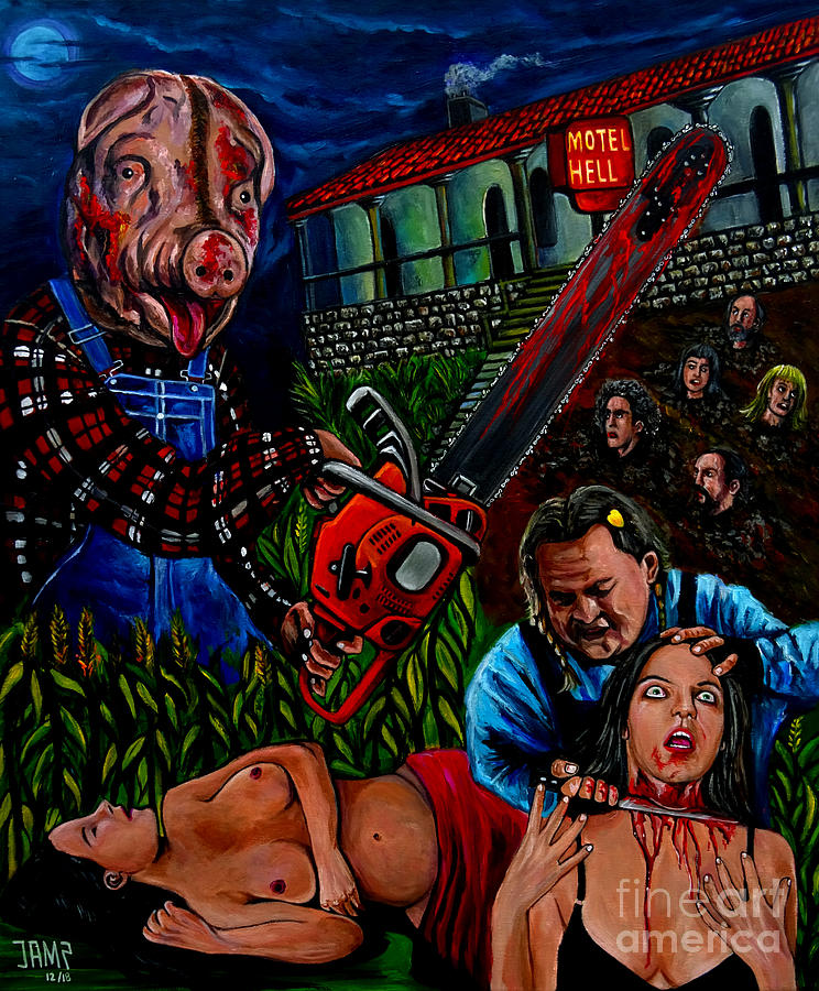 Motel Hell Painting - Motel Hell by Jose Mendez