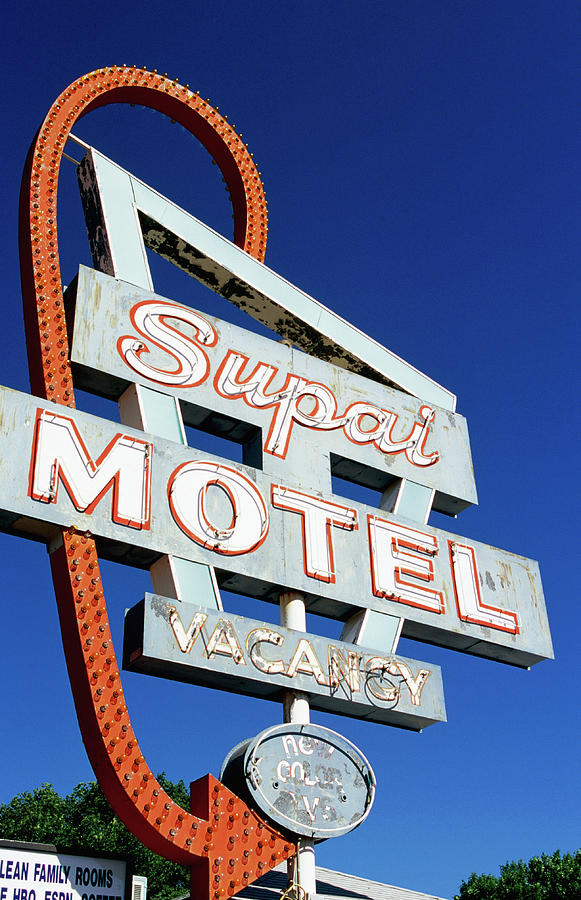 Motel Sign In Midwest, United States Of Photograph by Oliver Strewe