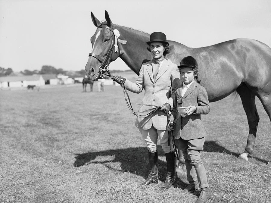 Mother & Daughter Equestrians Photograph by Bert Morgan