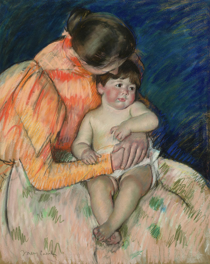 Mary Cassat Painting - Mother And Child, 1895 by Mary Cassat