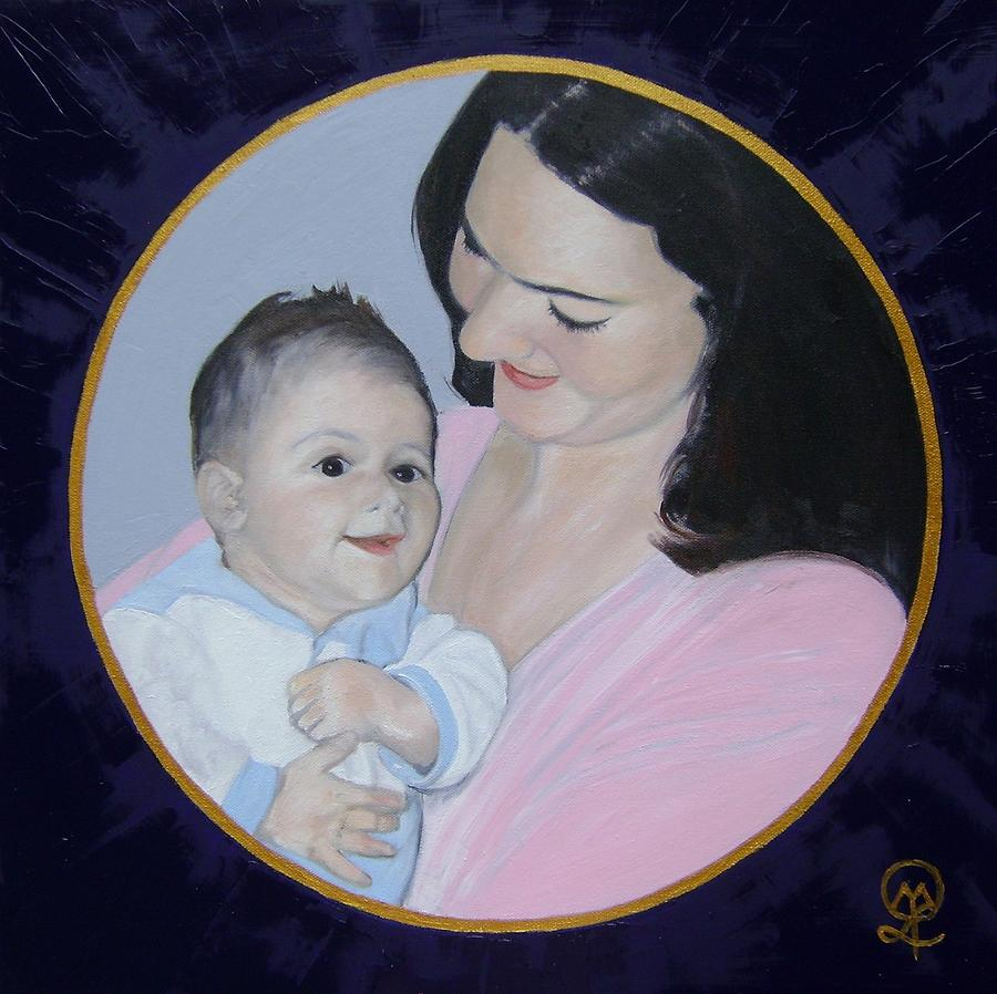 Mother And Child Painting - Mother and Child by Therese Legere