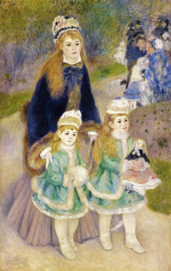 Mother And Children Painting - Mother And Children - Digital Remastered Edition by Pierre-Auguste Renoir