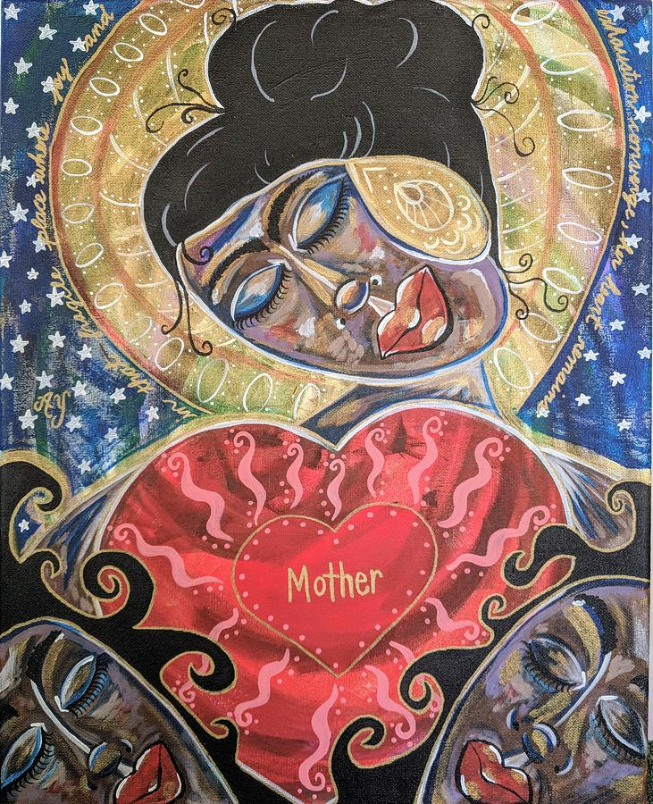 Holy Painting - Mother by Angela Yarber