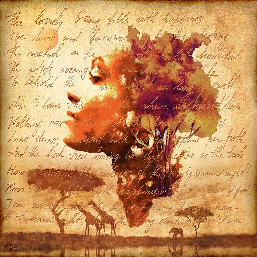 African Savanna Digital Art - Mother Earth by Regina Wyatt
