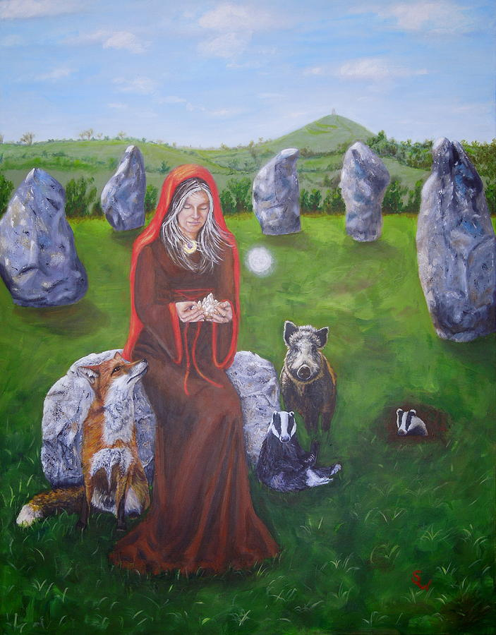 Mother of Earth Goddess Brigantia by Shirley Wellstead