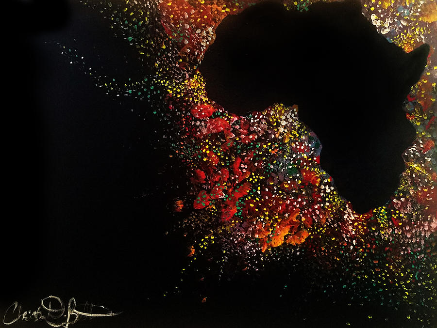 Africa Painting - Motherland Magic by Christian Belton