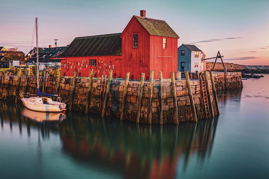 Motif #1 Fishing Shack - Rockport Massachusetts at Sunrise by Gregory Ballos