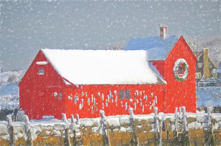 Rockport Photograph - Motif #1 Holiday Season by Liz Mackney