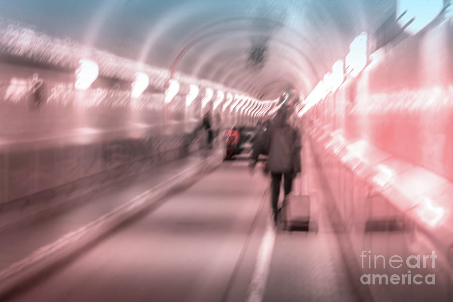 Motion blur in the Elbtunnel by Marina Usmanskaya
