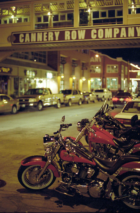 Motor Bikes And Cars Parking At Cannery Photograph by Peter Von Felbert / Look-foto