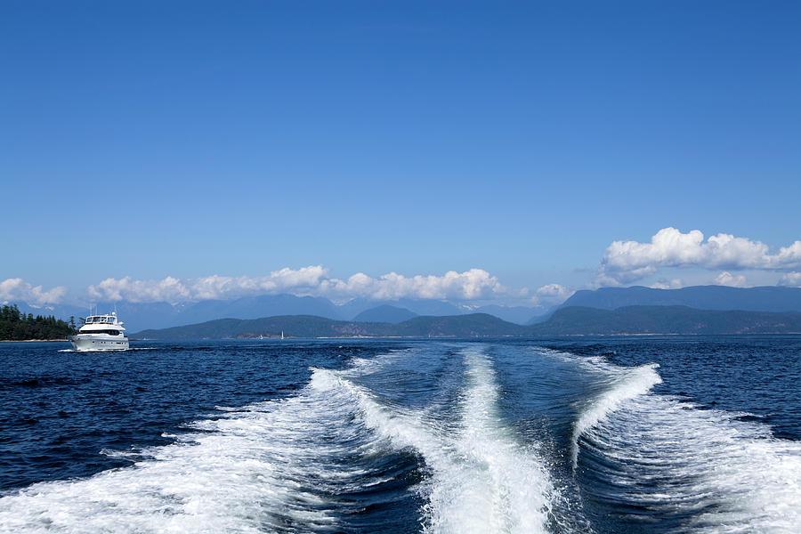 Motor Yacht Boat Wake Motorboating Photograph by Laughingmango