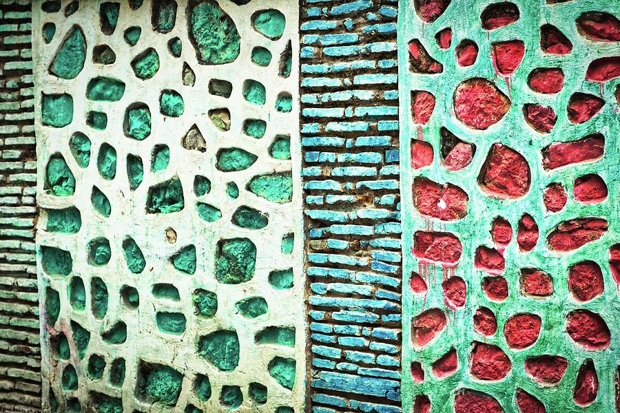 Moulay Idriss Wall Patterns - Morocco by Stuart Litoff