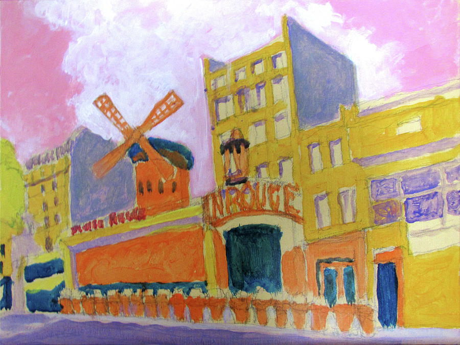 Moulin Rouge Polychrome Under Painting by David Zimmerman
