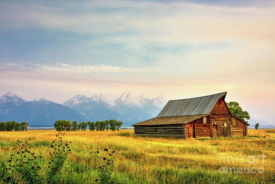 Moulton Barn against the Tetons by Paul Quinn