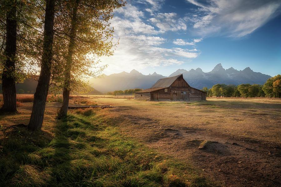 Moulton Barn at Dusk by David Soldano