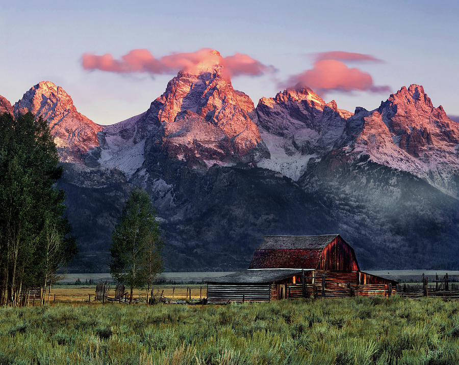 Tetons Photograph - Moulton Barn by Leland D Howard