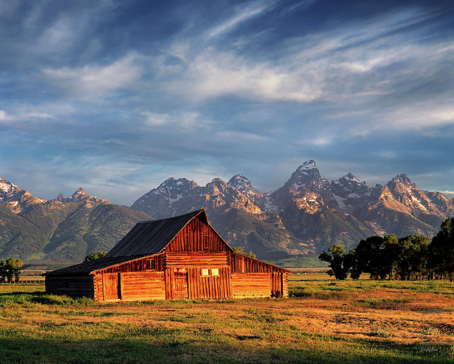 Altitude Photograph - Moulton Barn Morning Light by Leland D Howard