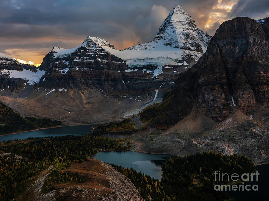 Mount Assiniboine Dusk Drama Photograph