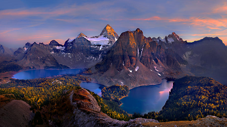 Peak Photograph - Mount Assiniboine by Hua Zhu