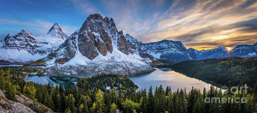 Mount Assiniboine Panorama Photograph By Inge Johnsson