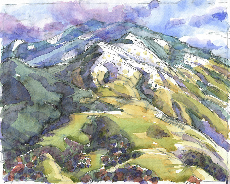 Mount Diablo with Snow by Judith Kunzle