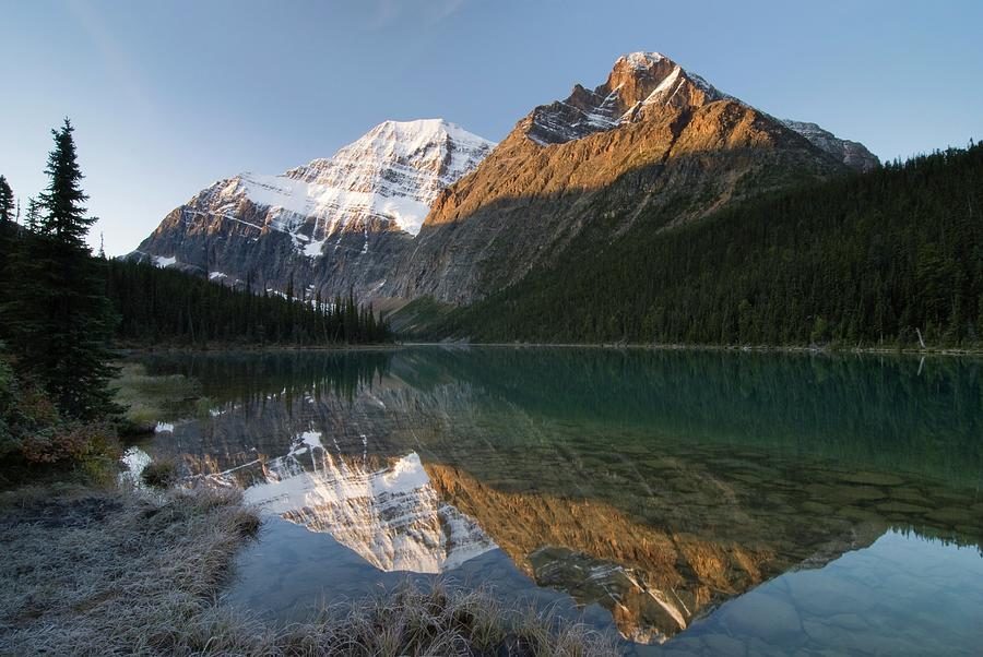Mount Edith Cavell, Cavell Lake, Jasper Photograph by Design Pics / Philippe Widling