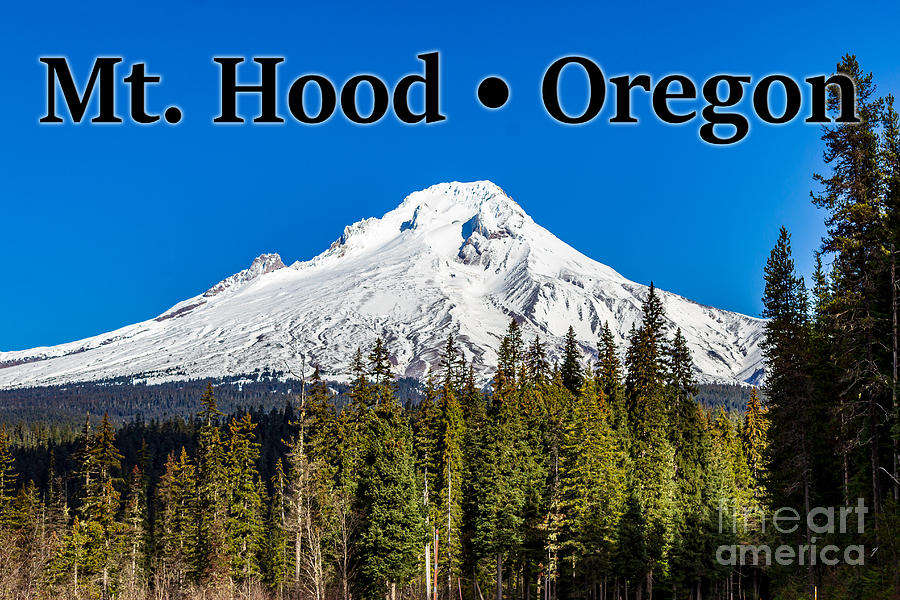 Mount Hood Photograph - Mount Hood Oregon in Winter 02 by G Matthew Laughton