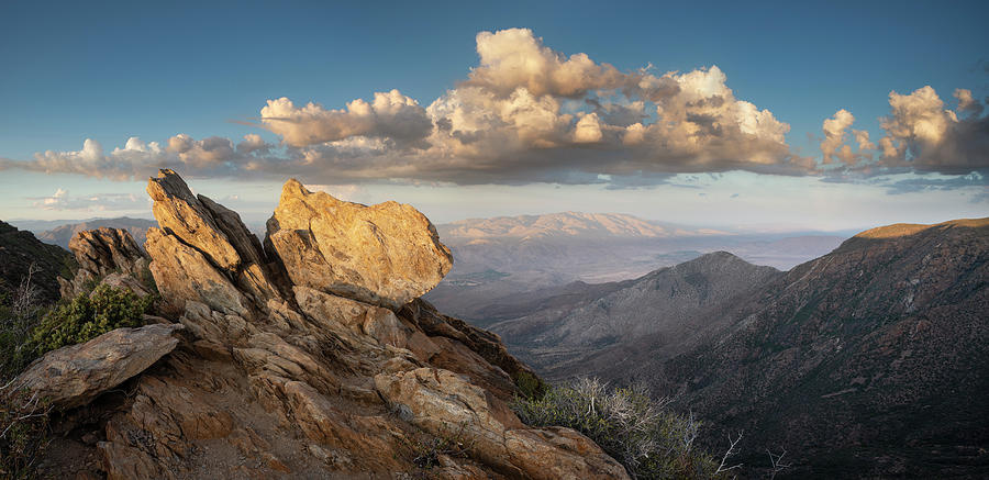 San Diego Photograph - Mount Laguna Rocks And Sunset by William Dunigan