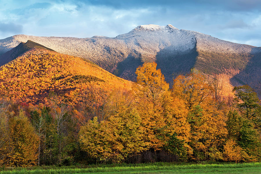 Mount Mansfield First Snow Photograph by Alan L Graham