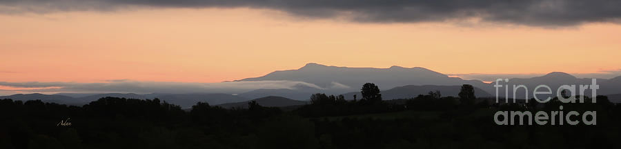 Mount Mansfield Photograph - Mount Mansfield Twilight Sunrise Panorama by Felipe Adan Lerma